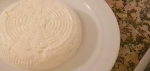عمل الجبنة البيضاء بالخل