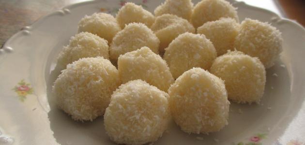 عمل حلويات جوز الهند