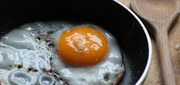عمل البيض المقلي