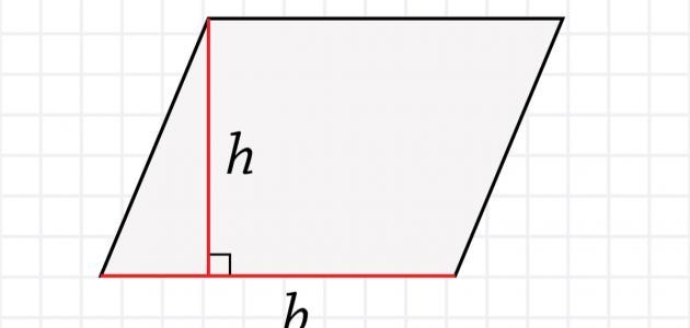 قانون حساب مساحة المعين