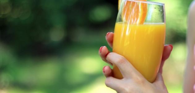 فوائد عصير البرتقال للوجه
