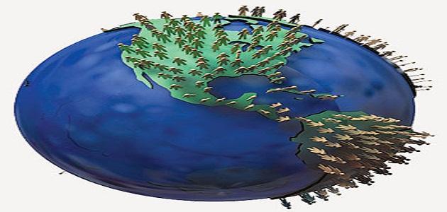توزيع السكان في العالم