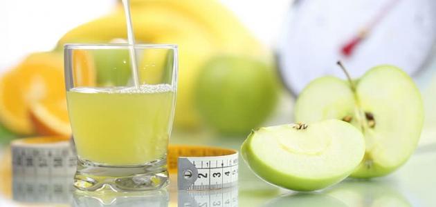فوائد عصير التفاح الأخضر للتخسيس