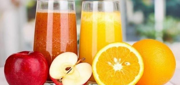 فوائد عصير البرتقال والتفاح