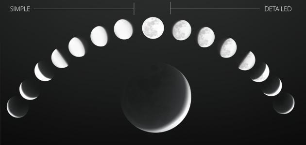 ما هي أطوار القمر