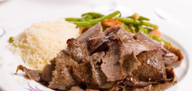طريقة عمل شاورما اللحم التركية