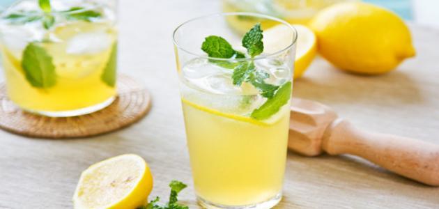 طريقة عمل عصير الليمون المثلج
