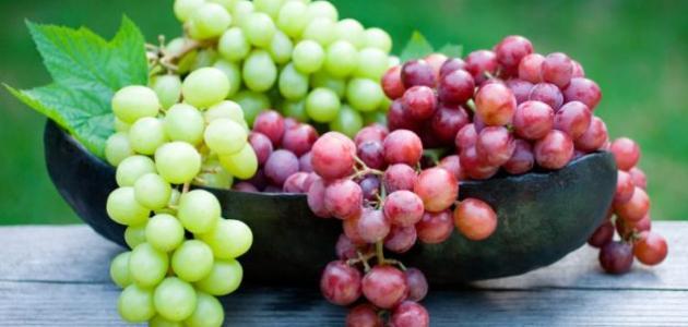 فوائد العنب للاعب كمال الأجسام