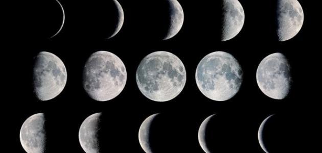 مراحل تشكل القمر