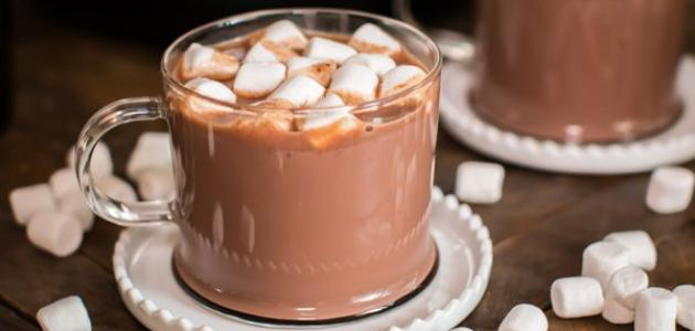 لذيذة لكوب الشوكولاتة الساخنة