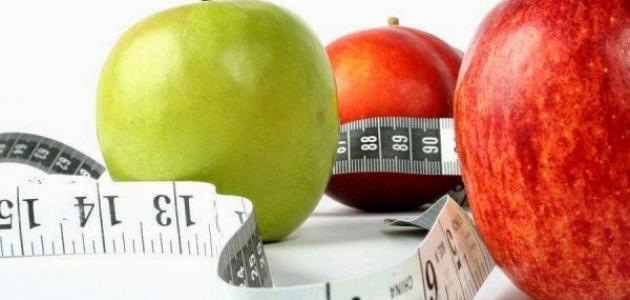 فوائد رجيم التفاح