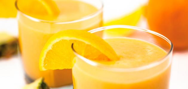 فوائد عصير البرتقال مع الأناناس
