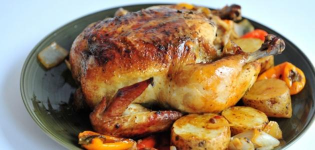 عمل الدجاج في الفرن