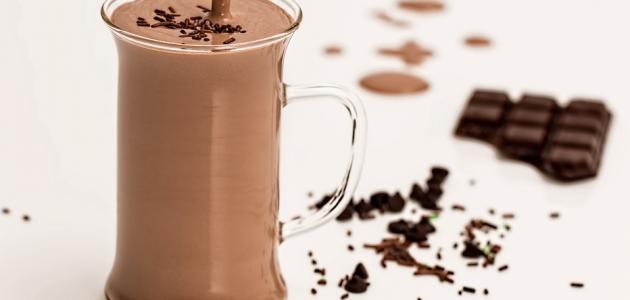 طريقة عمل اللبن بالشوكولاتة