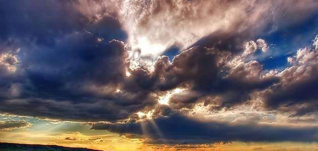 قدرة الله في السماء