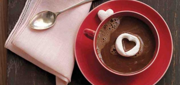 عمل مشروب الشوكولاتة الساخن
