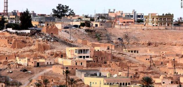 مدينة بن وليد في ليبيا