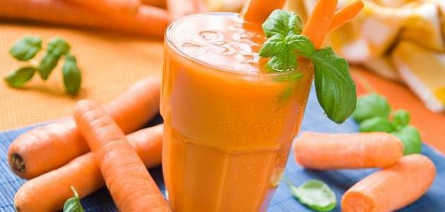 فوائد شرب عصير الجزر للشعر