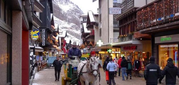 قرية زيرمات في سويسرا