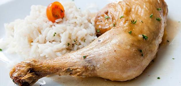 عمل أرز مع دجاج