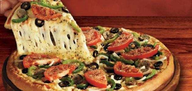 طريقة إعداد بيتزا الخضار