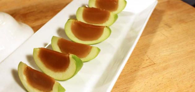 طريقة عمل التفاح بالكراميل