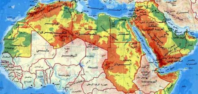 الدول العربية وعدد سكانها