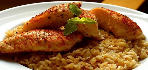 طرق عمل الأرز مع الدجاج