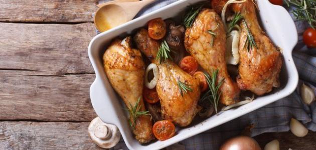 طرق عمل صواني دجاج بالفرن