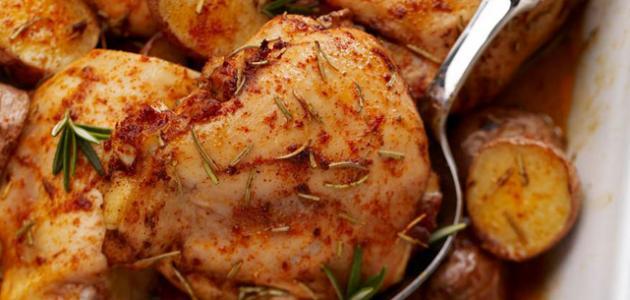 طرق عمل صواني الدجاج