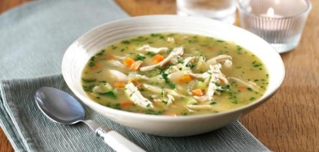تحضير حساء الدجاج