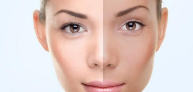 طرق تبييض بشرة الوجه