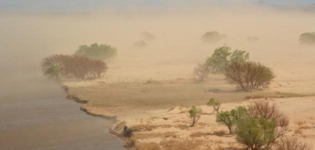 فوائد الغبار في الجو