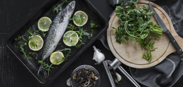 طرق طهي السمك بالفرن