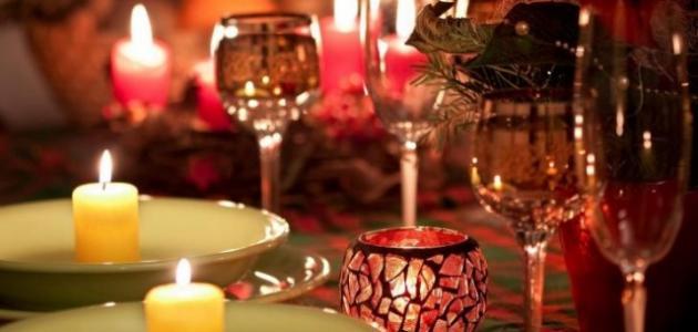 طرق عمل عشاء رومانسي