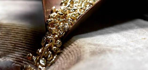 كيف يتكون الذهب