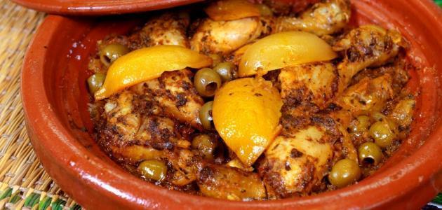 طريقة طبخ طاجين الزيتون