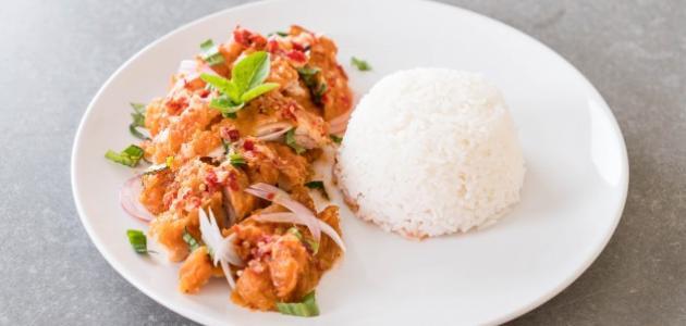 طريقة طبخ الأرز الأبيض مع الدجاج