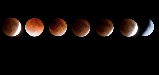 مراحل خسوف القمر
