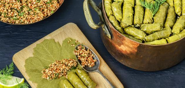 طريقة طبخ ورق العنب والكوسا