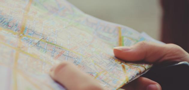 ما هي عناصر الخريطة