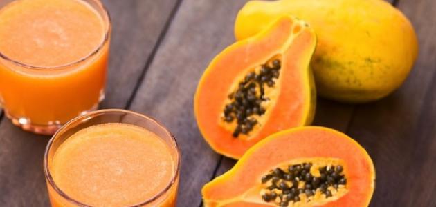 طريقة عمل عصير فاكهة البابايا