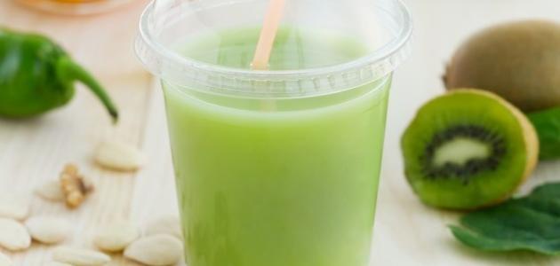 طريقة عمل عصير الأناناس والكيوي للتنحيف