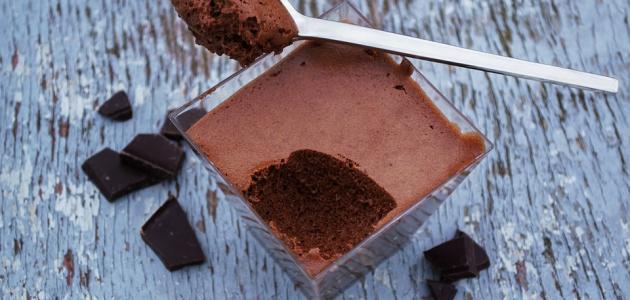 طريقة عمل موس الشوكولاتة دون كريمة