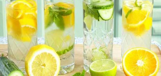 طريقة عمل ماء الليمون لتخفيف الوزن