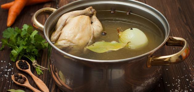 طريقة عمل مرقة صدور الدجاج