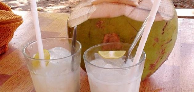 طريقة عمل ماء جوز الهند