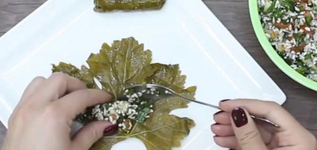 طريقة عمل محشي ورق العنب الصيامي