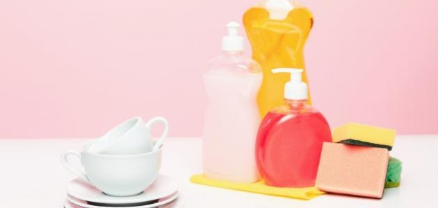 طريقة عمل صابون سائل للأطباق