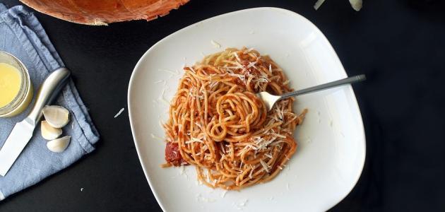 طريقة عمل سباغيتي بالطماطم
